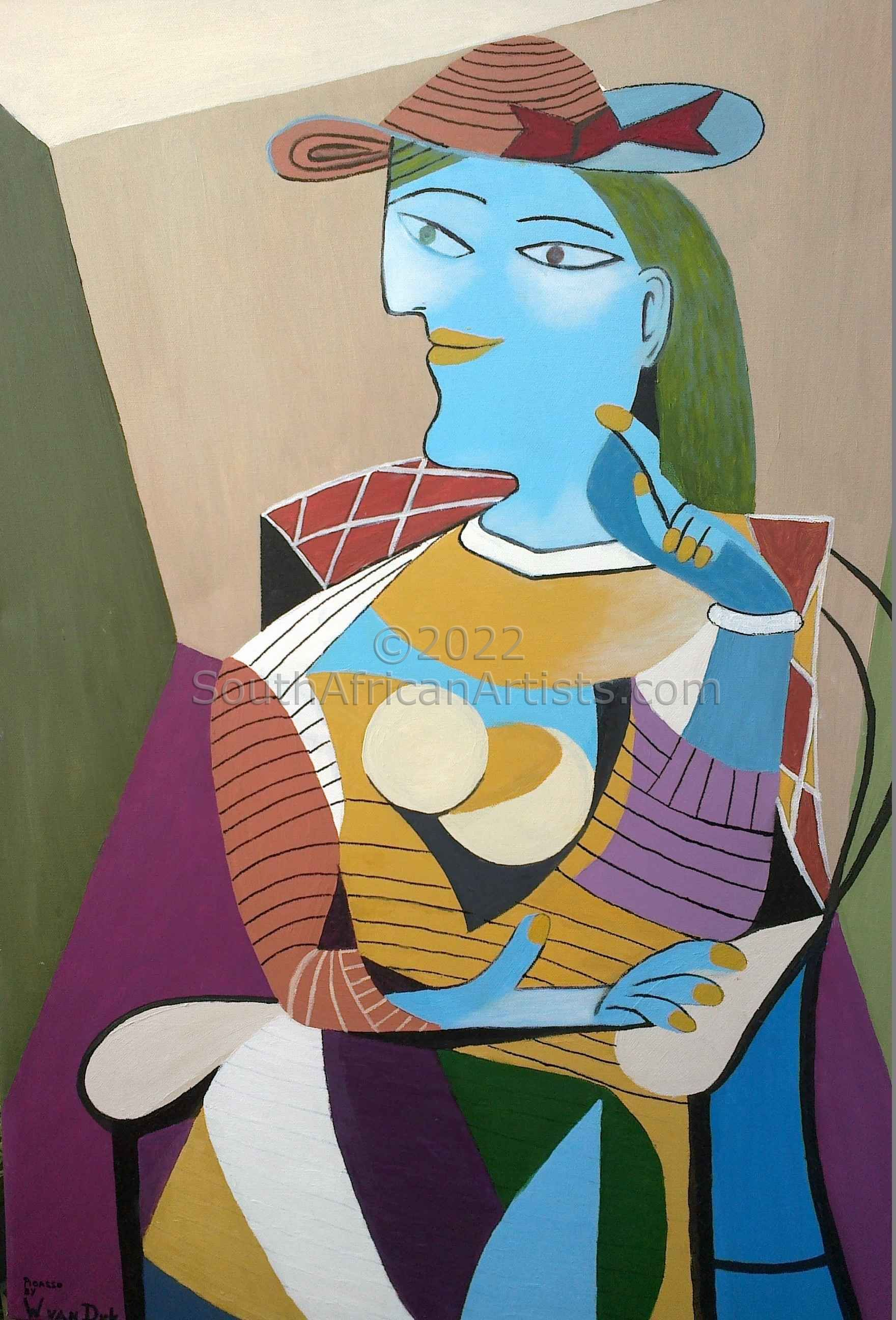 """Picasso Seated Lady"""