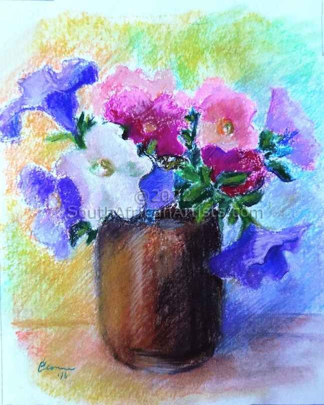 """Petunias in a Jar"""