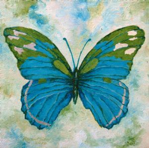 """Butterfly Olive and Turquoise"""