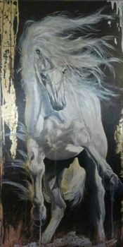 """White Horse Rearing Up"""