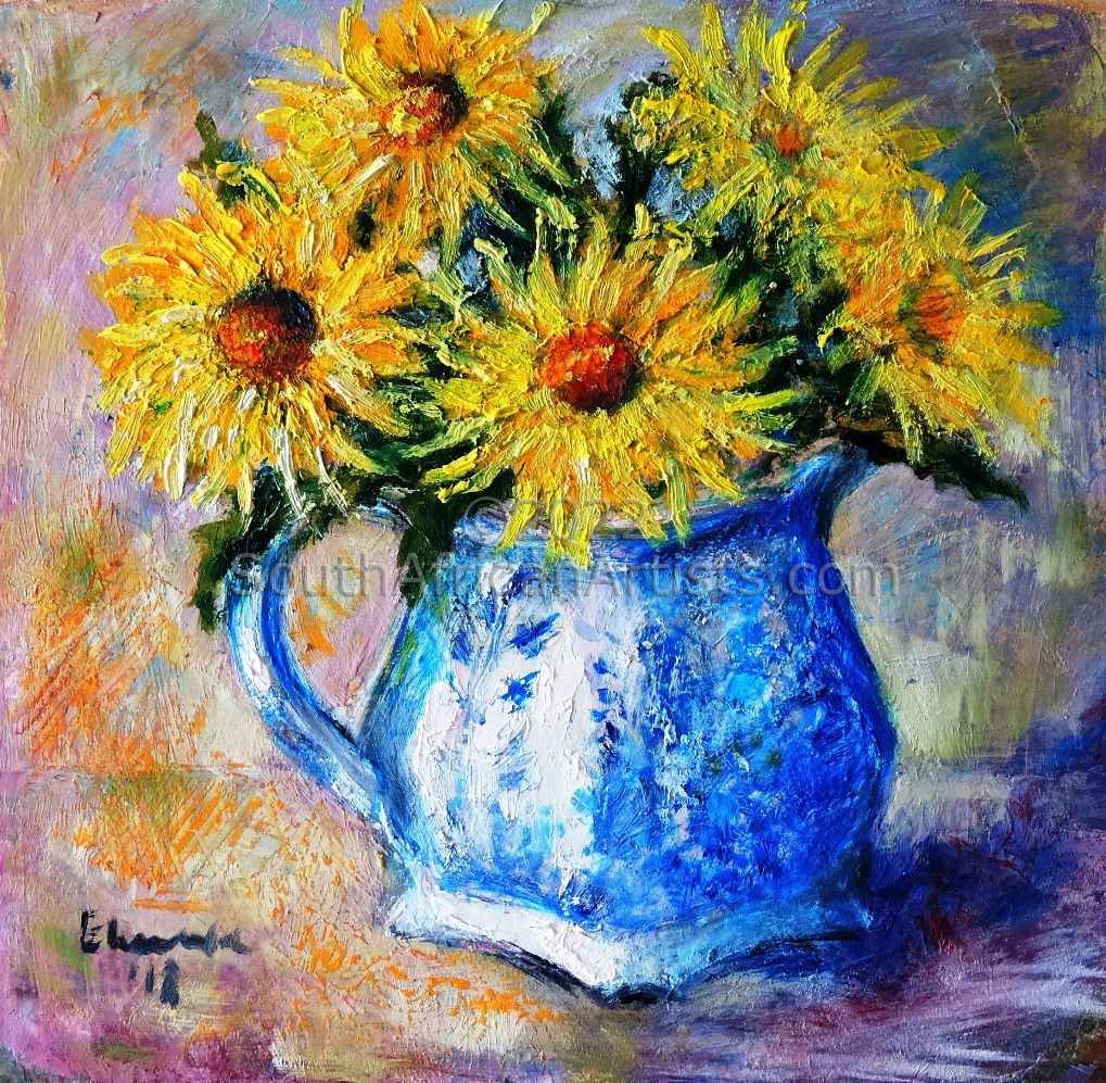 """Wild Flowers in an old Jug"""