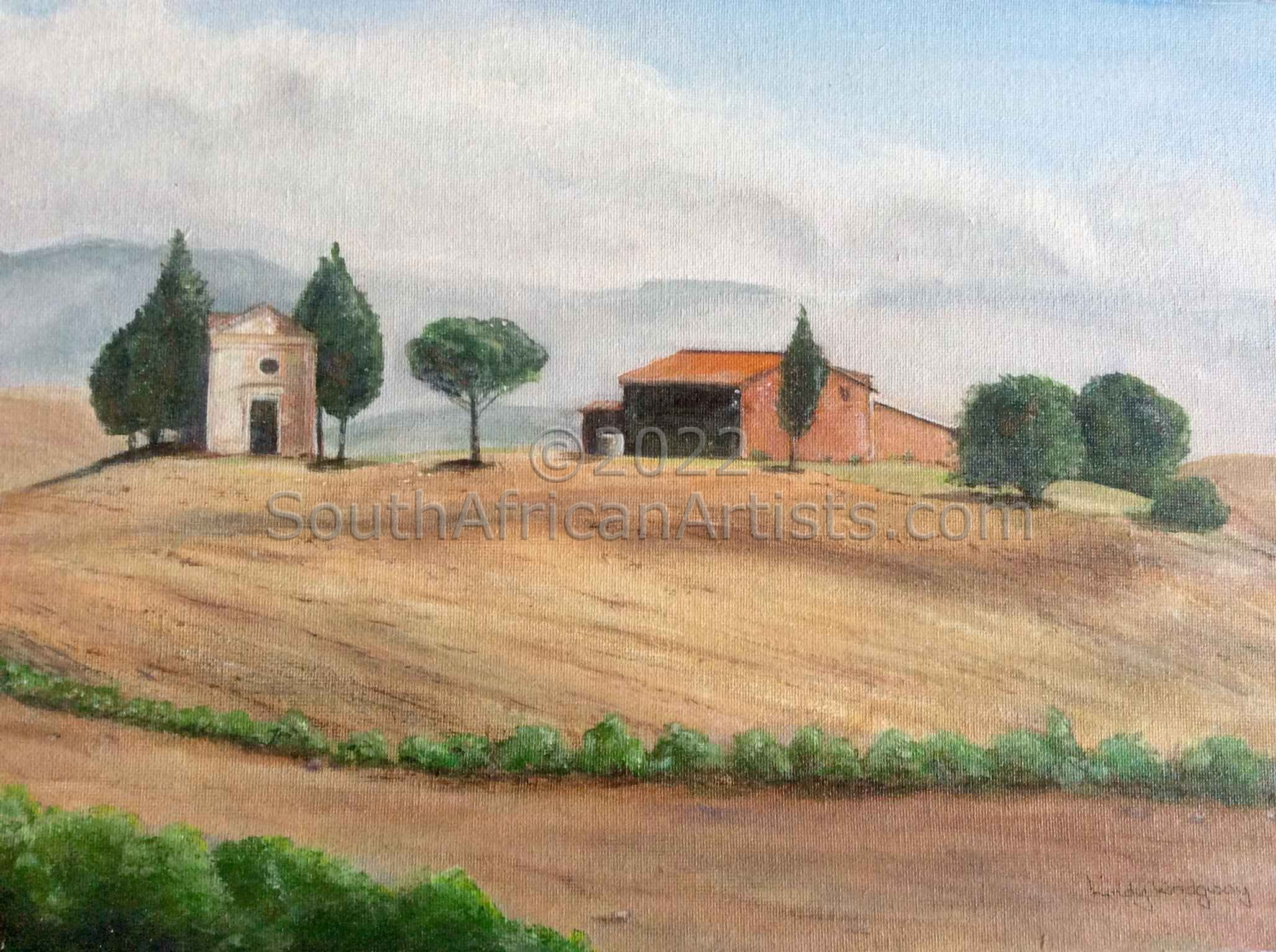 """ Misty Tuscan Morning"""