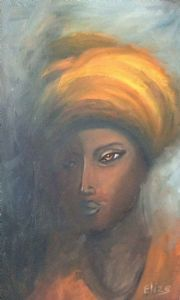 """Slamaaier - Portrait of a Coloured Woman dressed"""