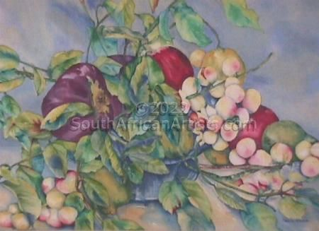 """Apples and Aubergine"""