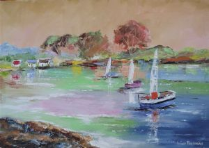 """Seabreeze with Sailboats"""