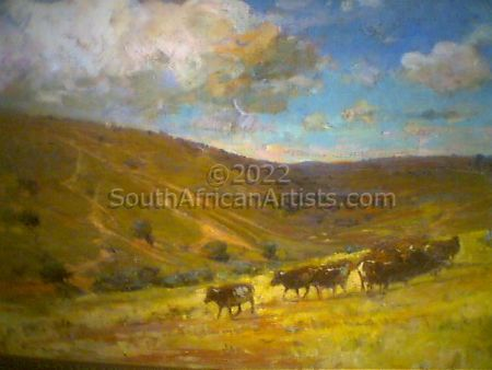 """Grazing Cattle on Hills"""
