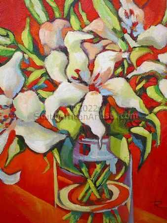 """Lilies and Red"""