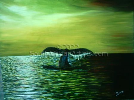 """Whale off the coast of Hermanus"""
