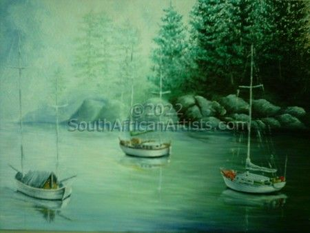 """Dropped Anchor in Misty Bay"""