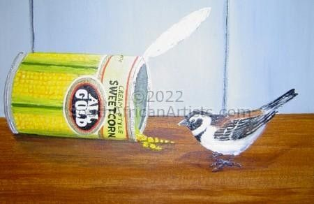 """Sparrow And Sweetcorn Can"""
