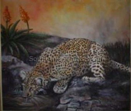"""Leopard on the Rocks"""