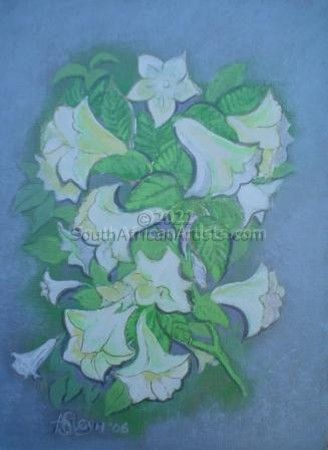 """Moonflowers - from my garden"""