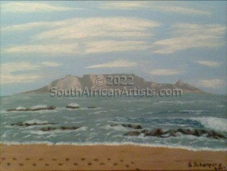 """Table Mountain from Blouberg Strand"""