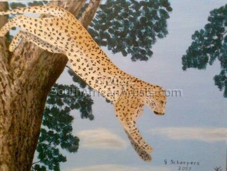 """Leopard Jumping"""