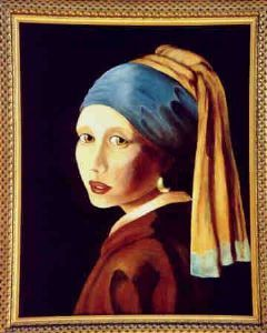 """Lady with Earring - after Vermeer"""