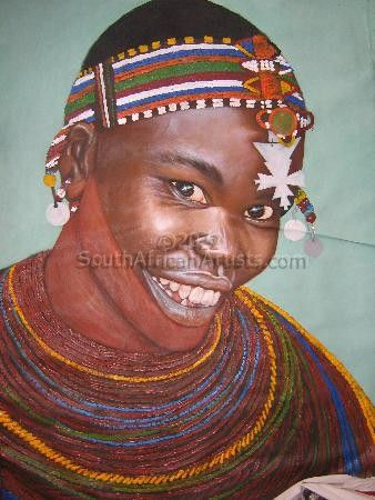 """Smiling Maasai Woman"""