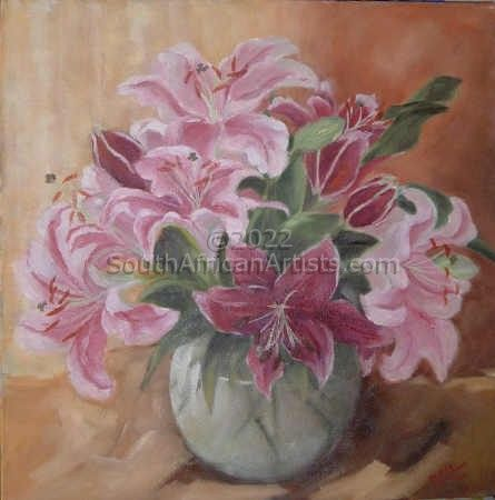 """Pink Lilies"""