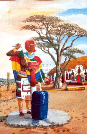 """Ndebele Pumping Water"""