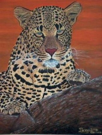 """Mother African Leopard"""