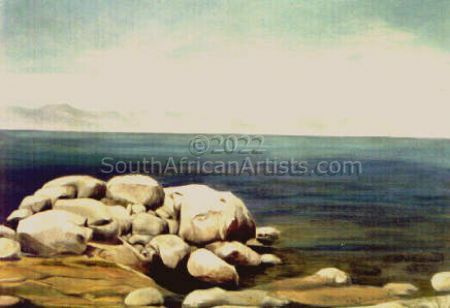 """White Rocks on False Bay"""