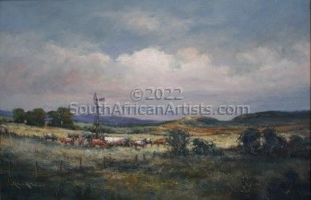 """Cattle in a Landscape"""