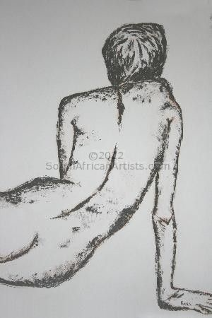 """Nude in Burnt Umber"""