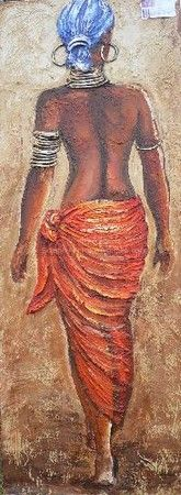 """African Lady Walking"""