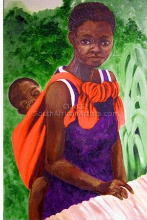 """African Mother and Child"""