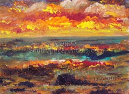 """Fiery Indian Ocean Sunrise"""