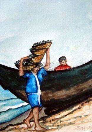 """Fisherman In Goa India"""