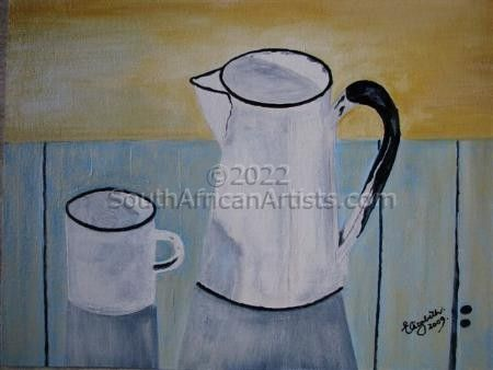 """White Jug and Cup"""