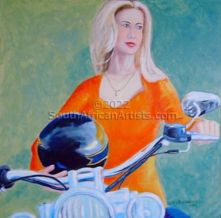 """Blonde on a Harley"""