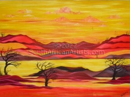 """Africa - Our Sun Sets in Crimson"""