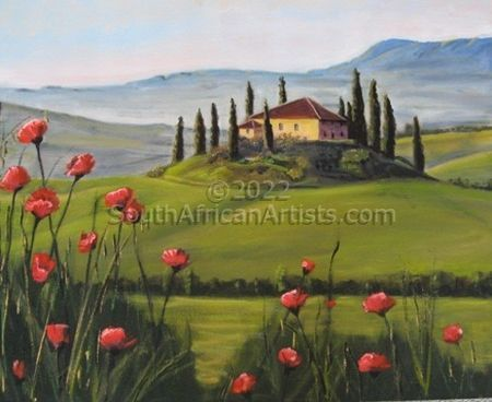 """Tuscany with Poppies"""
