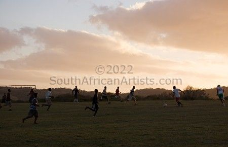"""Evening Soccer Game 1, Transkei"""