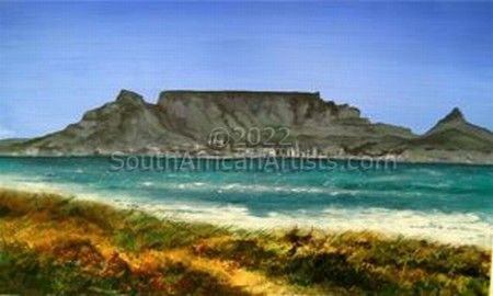 """Table Mountain from Bloubergstrand"""