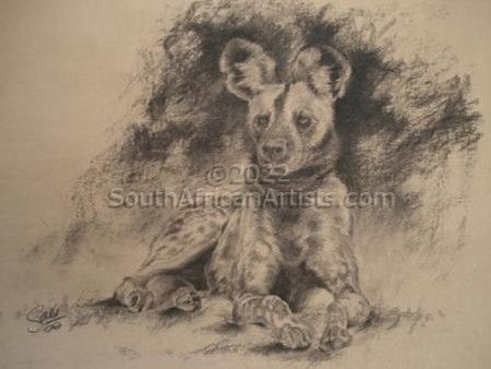 """Wild Dog in Charcoal"""