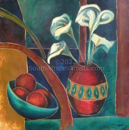 """still life with lillies"""