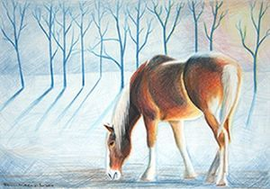 """Pony in a Winter Landscape"""