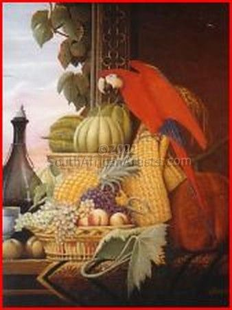 """Still Life with Parrot"""