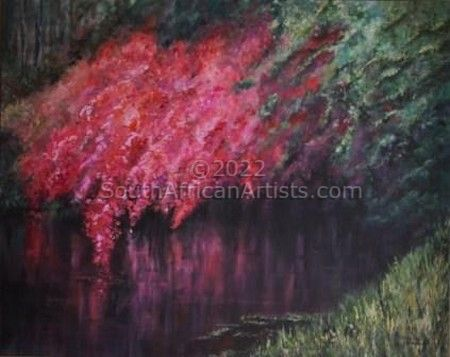 """Bougainvillea Reflections"""