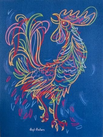 """Colored Rooster"""