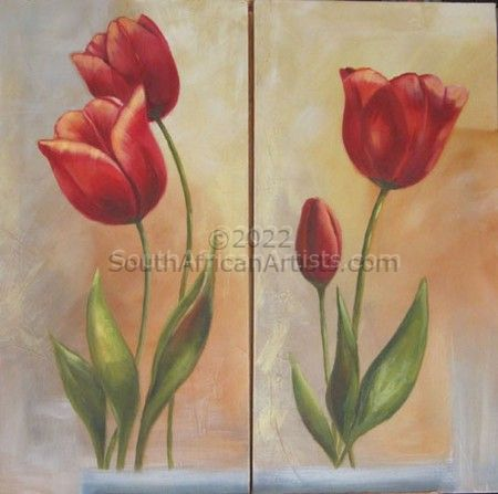 """Tulips Diptych"""
