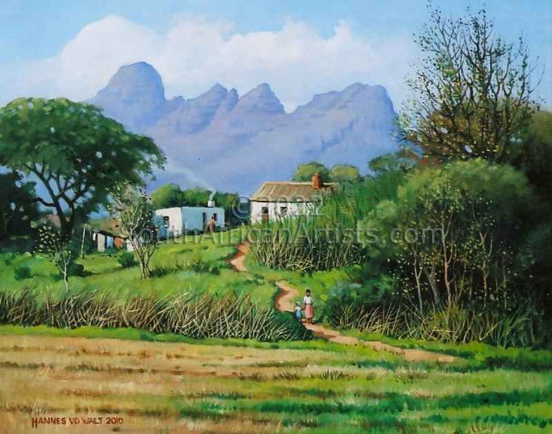 """Raithby Cottages and Helderberg"""