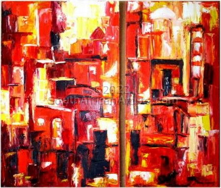 """City Alive diptych"""