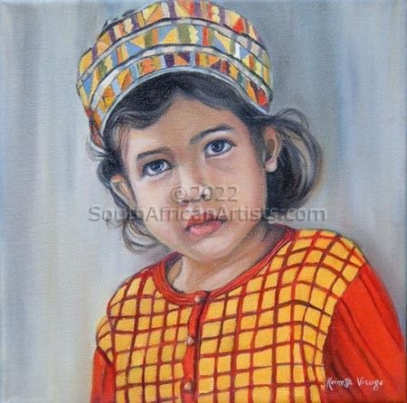 """Girl with Colored Headdress"""