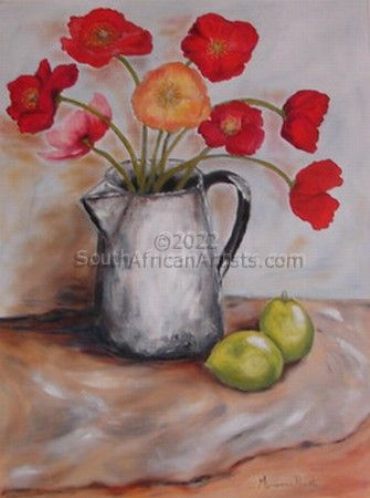 """Old Mug with Poppies"""