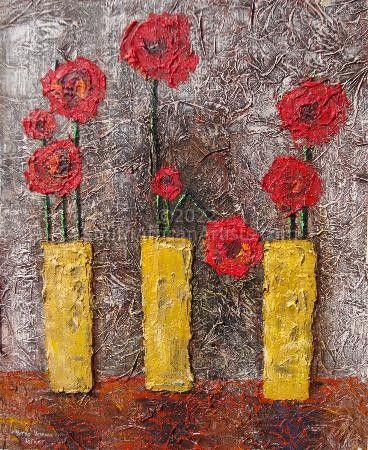"""Modern Red Flowers"""