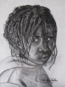 """African Girl with Strands"""