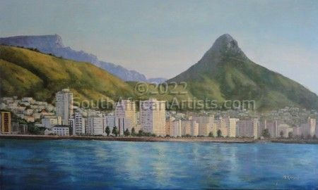 """Lions Head from Sea Point"""